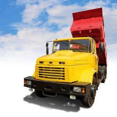 heavy industrial tipper with clipping path