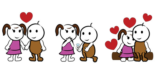 lovers cartoon - valentine, wedding, romance
