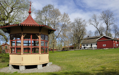 Swedish pavilion in garden