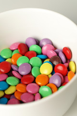 Colourful sweets in a bowl