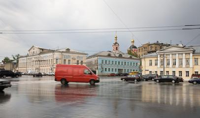 Moskauer Altstadt nach dem Regen im Mai