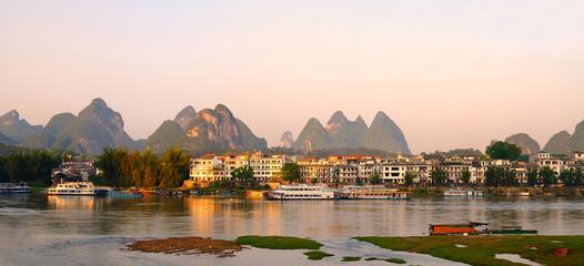 Foto auf Leinwand Guilin Le village de Yangshuo en chine