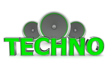Speakers Techno - Green