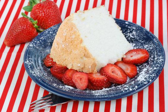 Angel Food Cake and Strawberries
