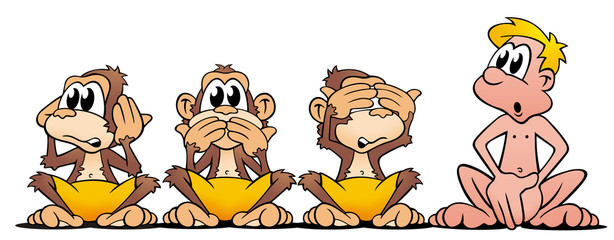 4 Affen
