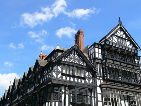 Chester city  archietecture, England