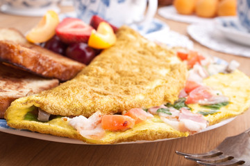 omelette close up