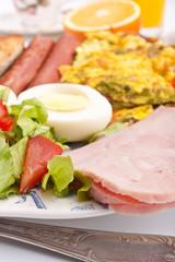 healthy breakfast with omelette