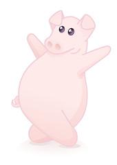 cochon dansant (reflet)