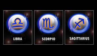 the zodiac : libra, scorpio & sagittarius