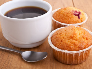 muffins with coffee