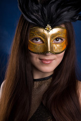 The girl in a mask