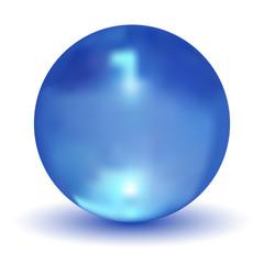 Vector Crystal Blue Ball