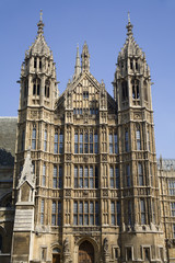 London - west facade of Parliament