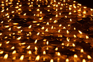 Large group of candles