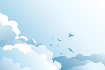Himmel im Vektorformat