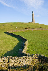 Sir John Barrow Monument and dry stone wall