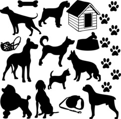 Dogs collage (vector)