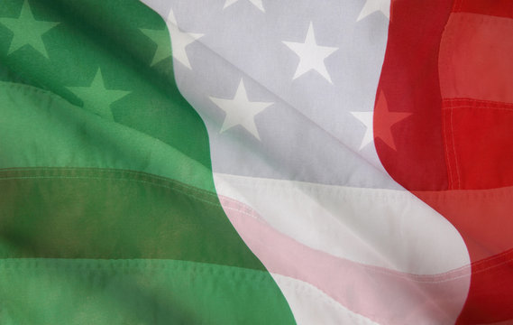 Italian and USA flags