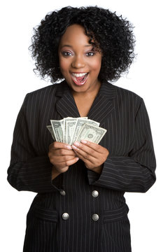 Surprised Money Woman