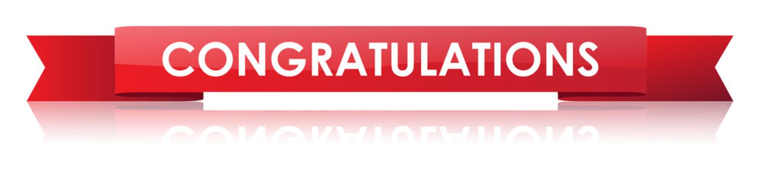 Congratulations Ribbon