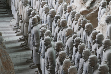 Spoed Foto op Canvas Xian The Terracotta Army in Xian