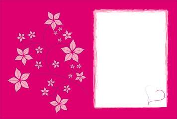 Pink Floral Rahmen