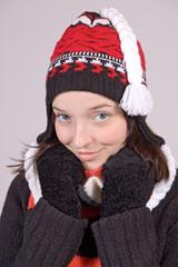 attractive girl in stocking cap