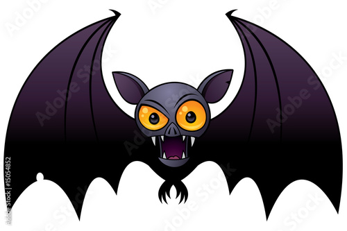 Bat Cartoon  Easy Drawing  How to draw a Bat