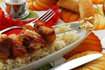 Spiedini di coda di rospo e prosciutto - Cucina Istriana