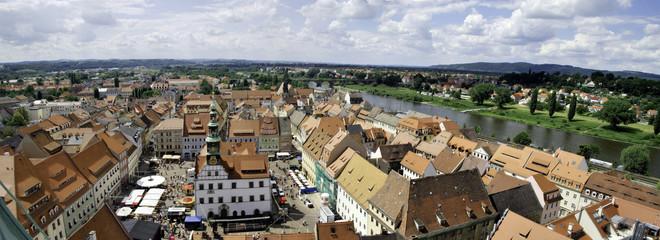 Markt Pirna und Elbe