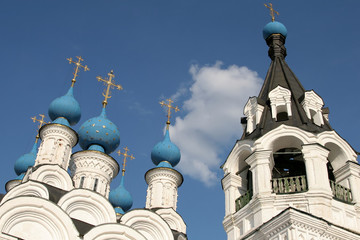 Trinity church and bell tower in Murom, Russia