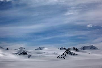 Snowy Mountain peaks - Harding Ice field
