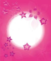 Pink Floral Karte