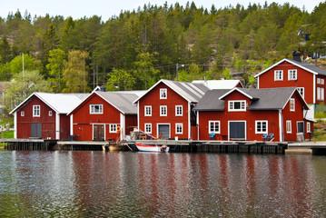 Bootshäuser in Schweden