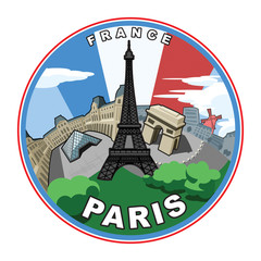 Illustration based on the city of Paris.