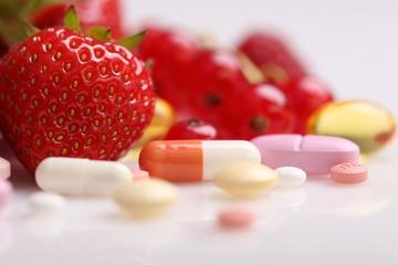 Vitamine und Präparate, Nahrungsergänzung, Diät