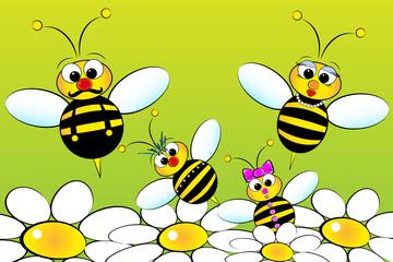 Bees Family - Kids Illustration