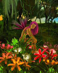 Poster Fées, elfes Forest Flower Fairy