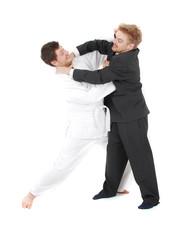 judoist vs businessman