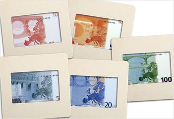 billets verso sur diapositives