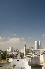 rooftop skyline view of casablanca morocco vertical