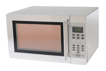 Microwave. Clipping path