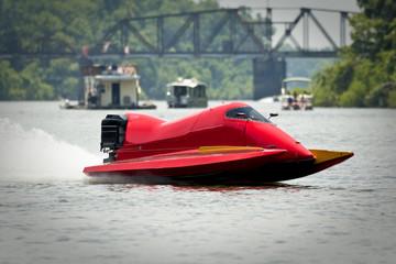 Foto op Canvas Water Motor sporten Boat racing