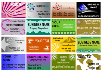 Big Business Card Set # 5