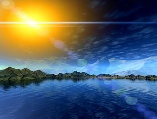 Magic glow landscape