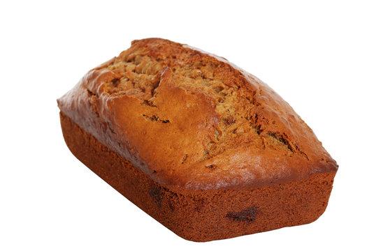 Isolated banana bread