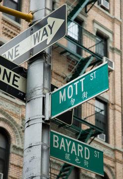 Street Corner in Chinatown, New York City