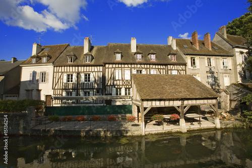 France chartres ville maison colombages photo libre for Maison de l emploi chartres