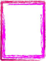 Pinsel Rahmen Pink